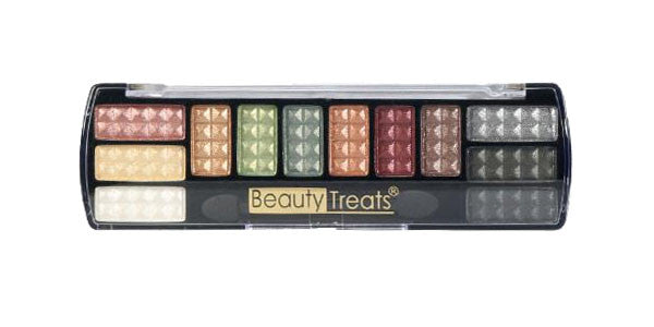 Beauty Treats Chrome Eyeshadow Palette, Golds