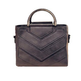 Chevron Design Luxurious Handbag, Gray