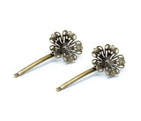 Vintage Gold Hairpin Set, Flowers