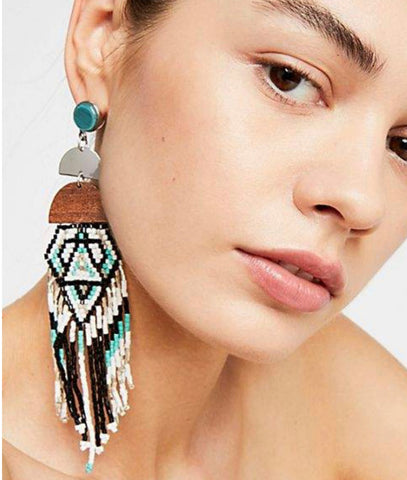 Boho Charm Dangle Earrings