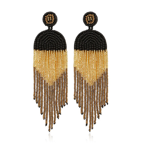 Antique Style Boho Tassel Earrings