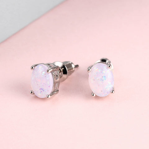 Natural Stone Drop Earrings, Pink