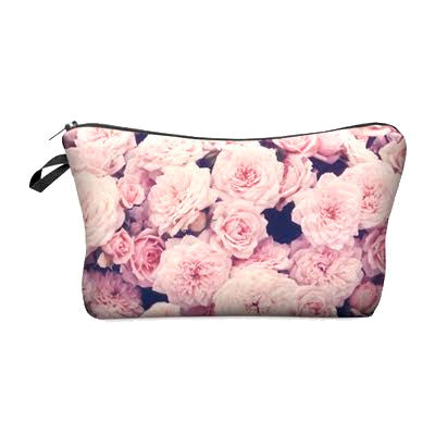 Pretty 3-D Printing Makeup Bag, Vintage Roses