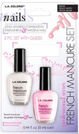 Set of 2 French Manicure Polishes, Natural Pink/French White