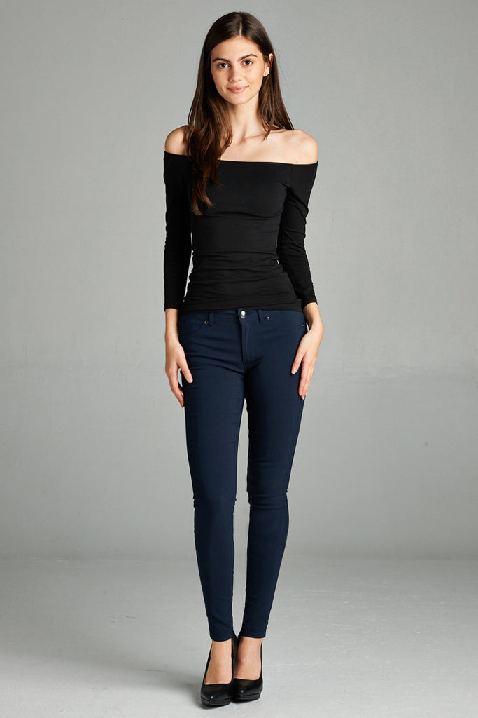 Basic 5 Pockets Long Pants, Navy
