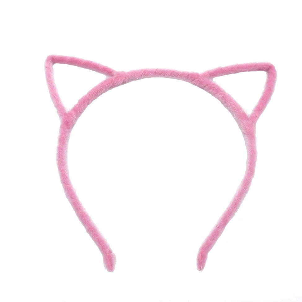 Fuzzy Cute Cat Headband, Pink