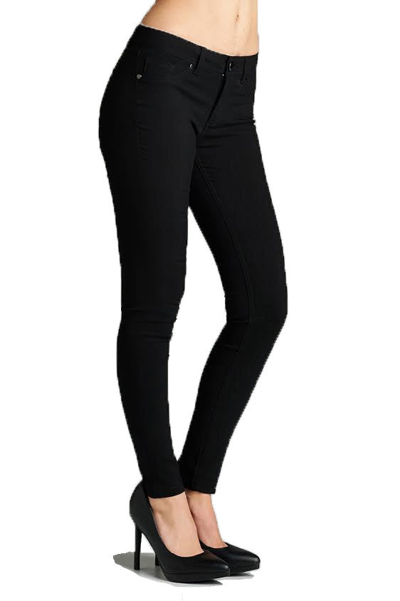 Basic 5 Pockets Long Pants, Black