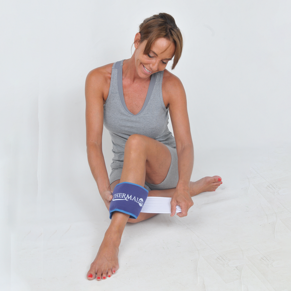 Thermalon Cold-Heat First Aid Wrap. Gel-free pad provides cold therapy from the freezer and heat therapy from the microwave. Natural pain relief pad. Relieves ankle swelling.