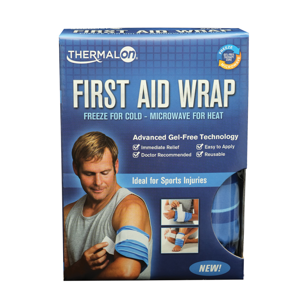 Thermalon First Aid Wrap for effective cold therapy treatments.  Easy to apply. Non gel technology.