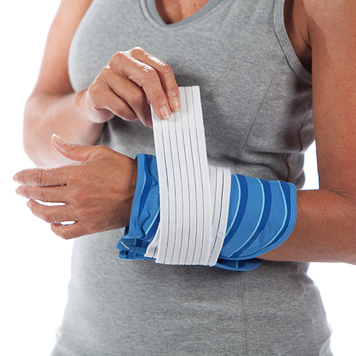 Thermalon First Aid Wrap for effective cold therapy treatments.  Easy to apply. Non gel technology. Wrist pain relief. Reduces swelling and eases pain.