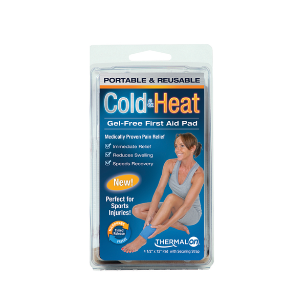 Thermalon Cold-Heat First Aid Pad. Gel-free pad provides cold therapy from the freezer and heat therapy from the microwave. Natural pain relief pad.