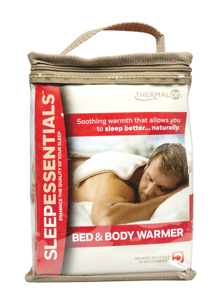 Thermalon Sleep Essentials Moist Heat Bed and Body Warmer. Natural moist heat therapy compress for better sleep.