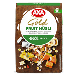 Müsli gold fruit, Axa