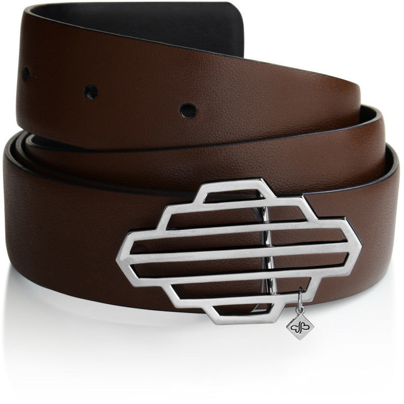 Reversible High Line Belt Sterling Silver