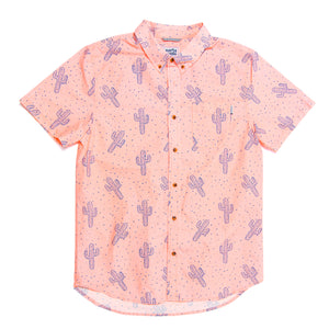 SPACE CACTUS BUTTON DOWN SHIRT