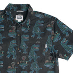 T-REX NEON BUTTON DOWN