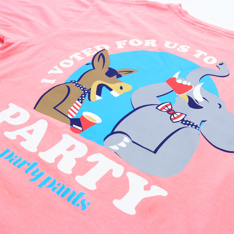 VOTE TO PARTY SHORT SLEEVE TEE