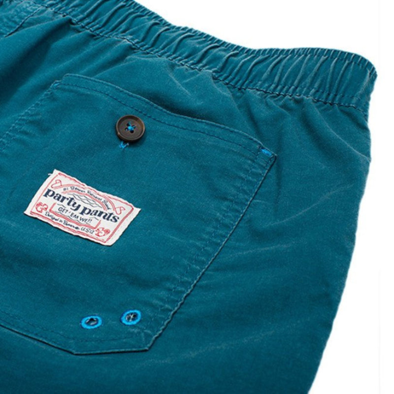 Party Pants USA - Men's Shorts - Go Getter Beaver - Blue - Back - Zoom