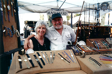 Alice & Chuck Hollander at a craft fair
