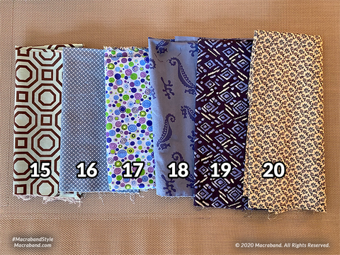Fabric Swatches 15-20