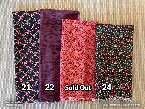 Fabric Swatches 21-24