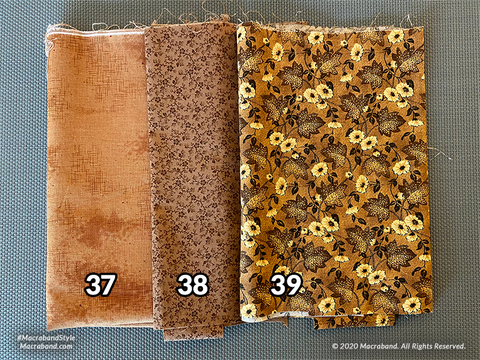 Fabric Swatches 37-39
