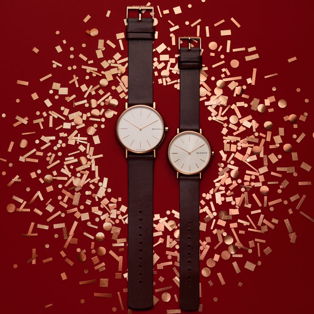 Signatur Slim Red Leather 36mm Watch