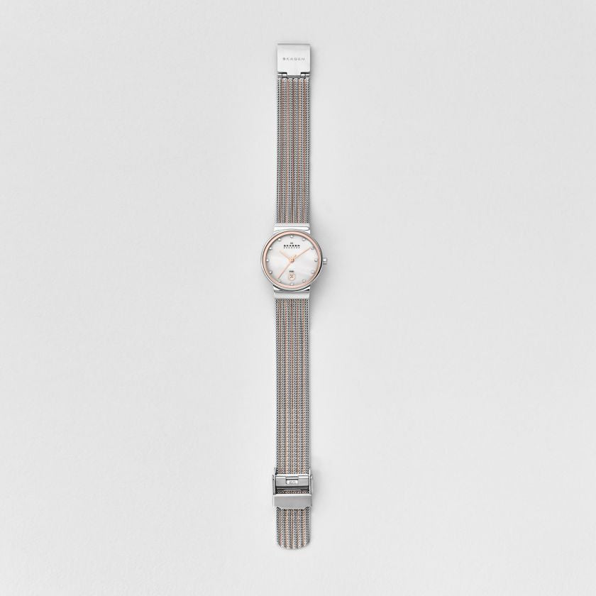 Ancher Striped Steel Mesh Watch
