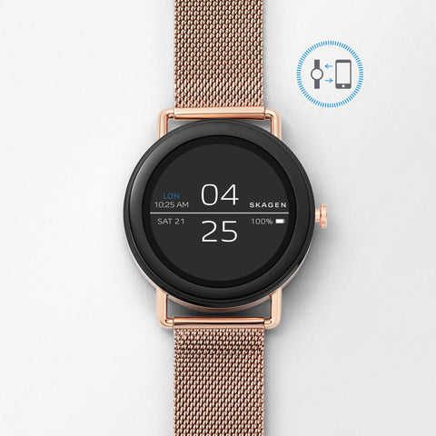 Smartwatch   Falster Rose Gold Tone Steel Mesh