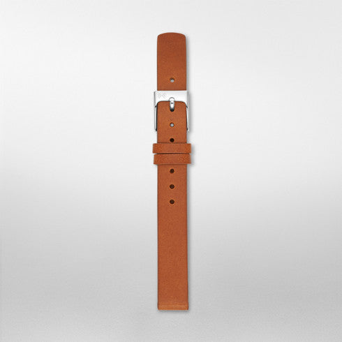 12mm Standard Leather Watch Strap, Brown