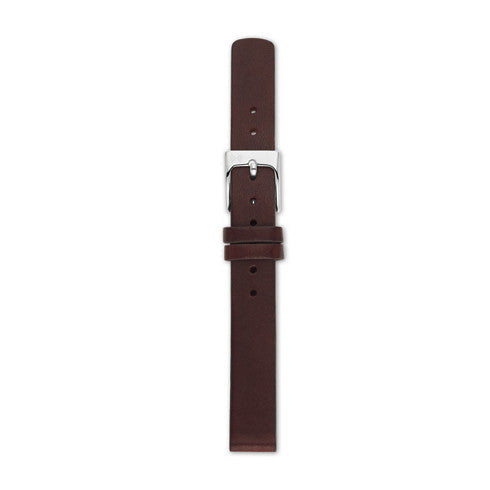 12mm Standard Leather Watch Strap, Dark Brown
