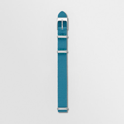 12mm Standard NATO Nylon Watch Strap, Blue