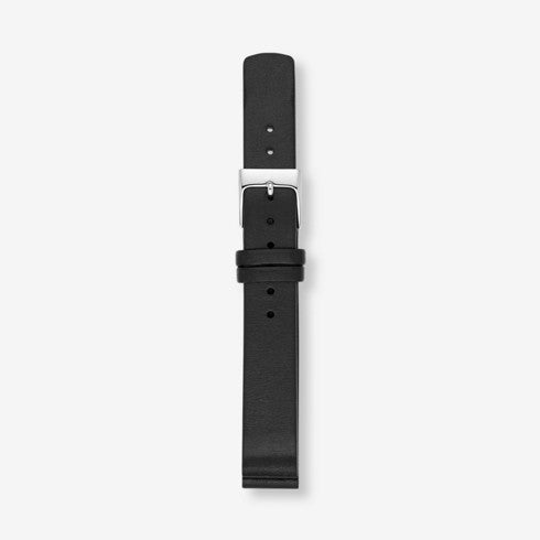 14mm Standard Leather Watch Strap Black