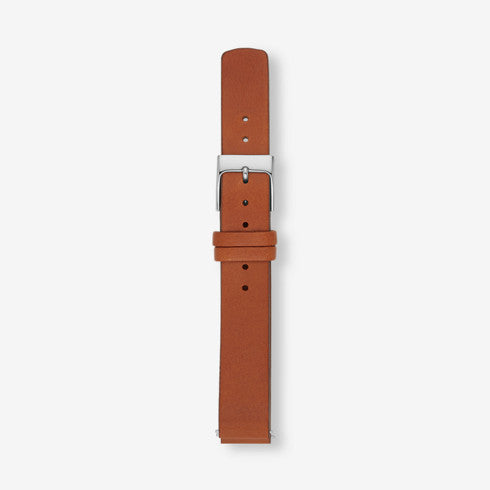 14mm Standard Leather Watch Strap Brown