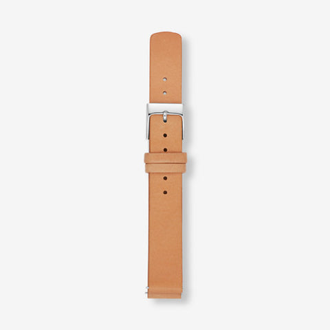 14mm Standard Leather Watch Strap Tan