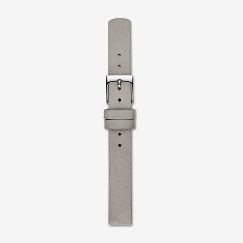 12mm Standard Mainsail Leather Interchangeable Strap, Gray