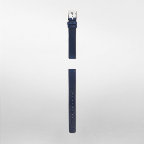 12mm Standard Leather Watch Strap, Navy Blue