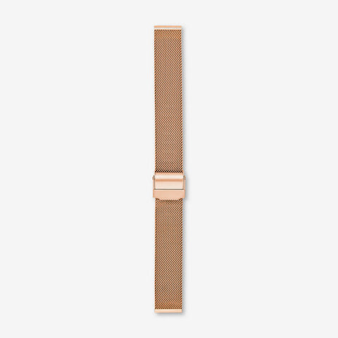 16mm Interchangeable Steel-Mesh Strap, Rose Gold-Tone