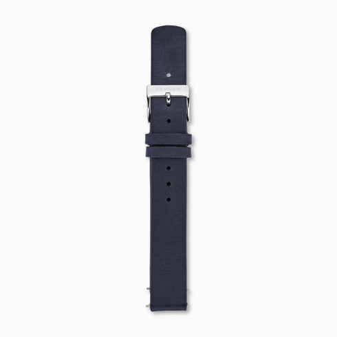 14mm Standard Leather Watch Strap Blue