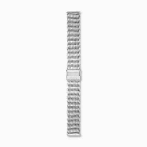16mm Standard Silk Mesh Watch Strap Silver Tone