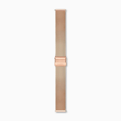 16mm Standard Steel Mesh Watch Strap Rose Tone
