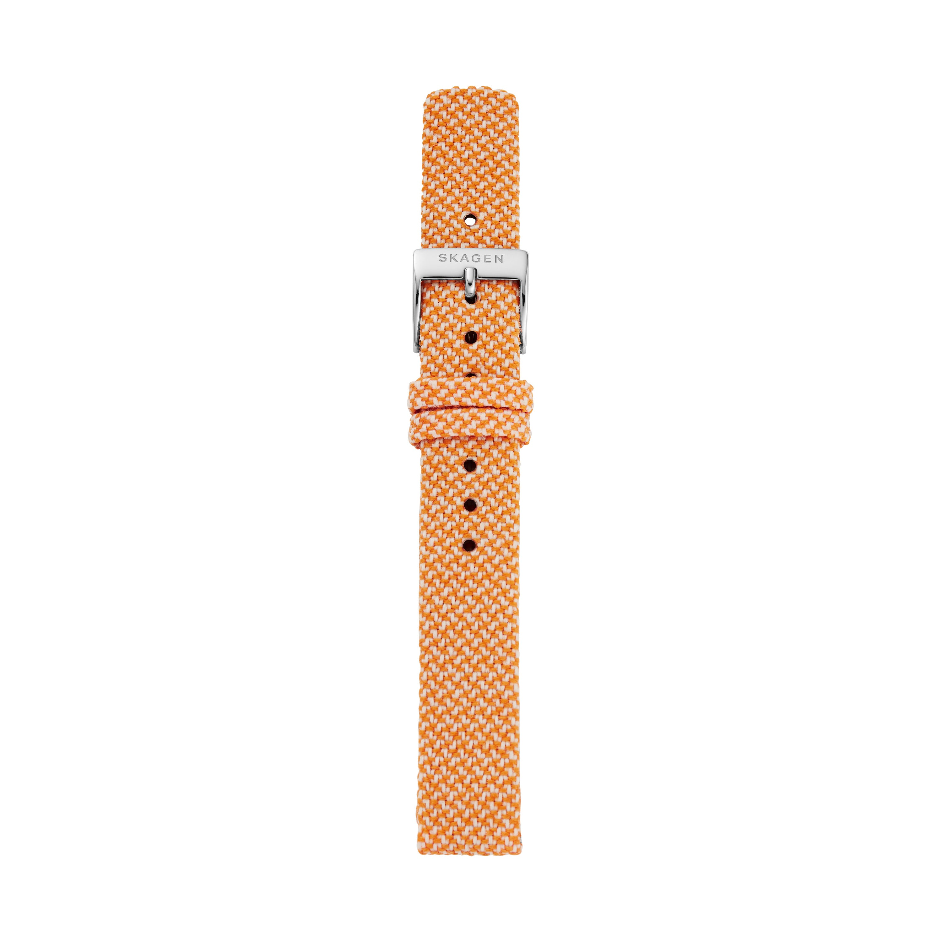 14mm Recycled Woven Strap, Orange