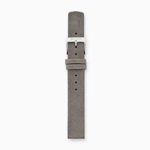 14mm Standard Leather Watch Strap Gray