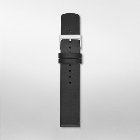 20mm Standard Leather Watch Strap, Black