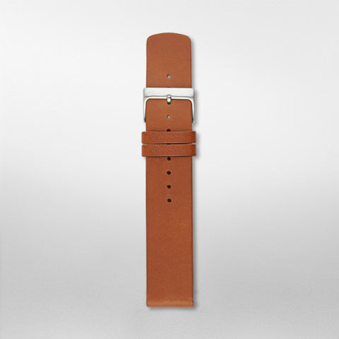20mm Standard Leather Watch Strap, Brown