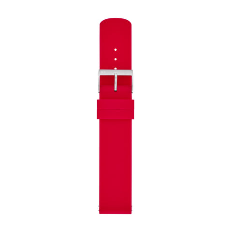 20mm Standard Silicone Watch Strap, Red
