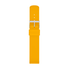 20mm Standard Silicone Watch Strap, Yellow