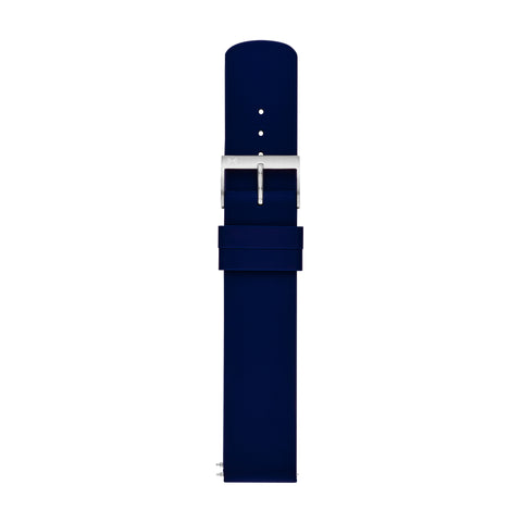 20mm Standard Silicone Watch Strap, Navy Blue