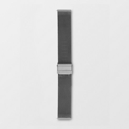20mm Standard Steel-Mesh Watch Strap, Gray