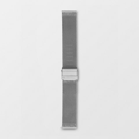 20mm Standard Steel-Mesh Watch Strap, Silver-Tone